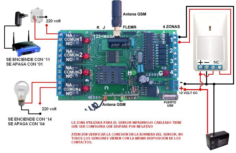 Control remoto gsm - Como conectar un sensor de movimiento de tres cables ...